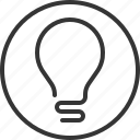 brain, creativity, lamp, light, problem, solver, storming icon