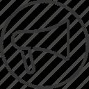 attract, campaign, fish, megaphone, optimization, promotion icon