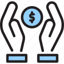 hand, money, moneysave, save, saving, savings icon