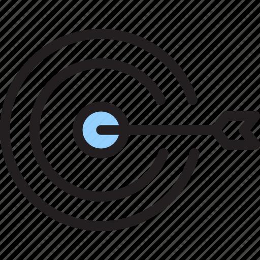 arrow, hit, target icon