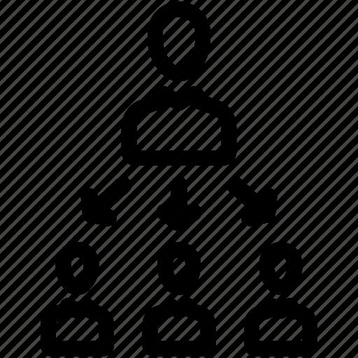 hierarchy, team, teamwork icon