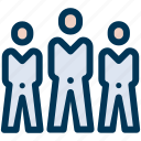 businessman, group, leader