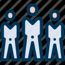 businessman, group, leader icon