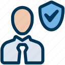 employee, insurance, protection icon