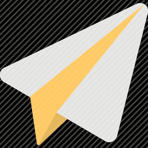 handmade plane, message, origami, paper plane, startup icon