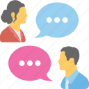 communication, discussing, speech, talk icon