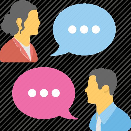 communication, discussing, speech, talk icon