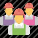 construction team, engineer, labour, technicians, worker