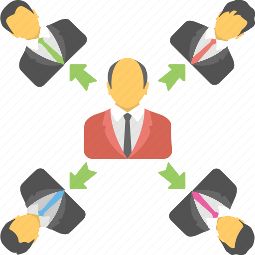 collaboration, group, network, organization, team icon