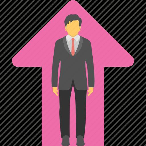 career, configuration, growth, progress, promotion icon