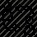 alternate, circular arrows, exchange, work team icon
