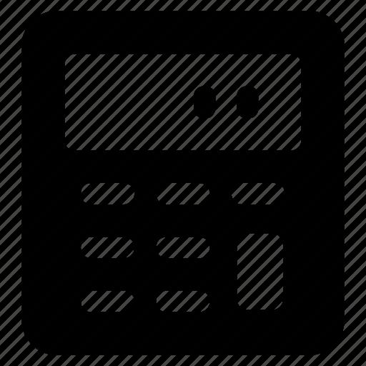 adder, adding machine, calculator, estimator, totalizer icon