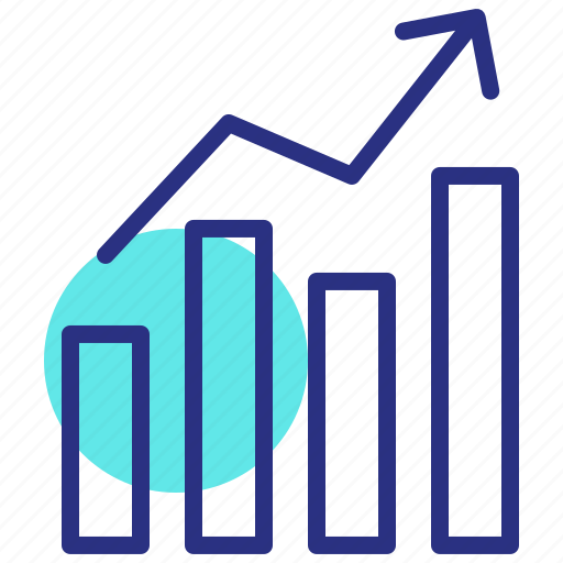chart, growth, market growth, sales, success icon