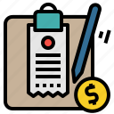 bill, cashier, invoice, receipt icon