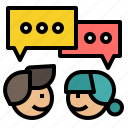 chat, communication, connection, deal, discussion icon