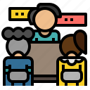 conference, discussion, meeting, seminar, teamwork icon