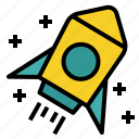 entrepreneur, launch, rocket, startup icon
