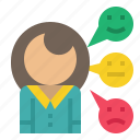 comment, customer, feedback, rating, review icon