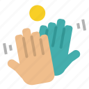 clapping, hands, partnership, teamwork icon
