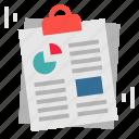 analytics, kpi, paper, report, yearplan icon