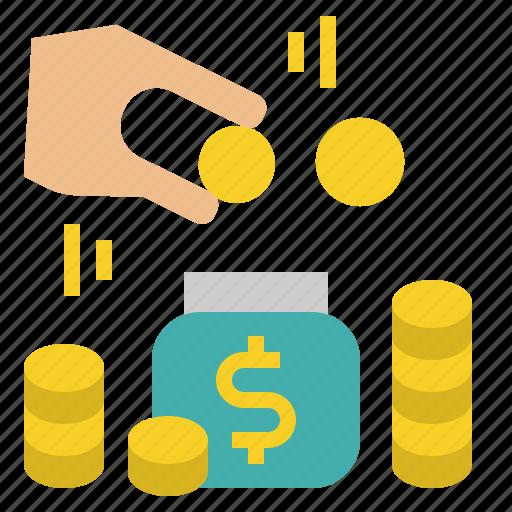 coins, financial, money, saving icon