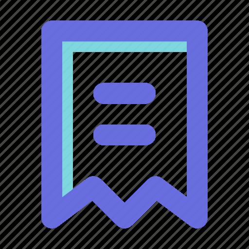 bill, document, invoice icon