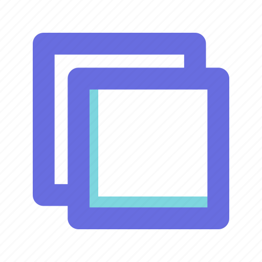 duplicate, shapes, squares icon