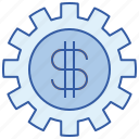 cash, exchange, rate, setting icon