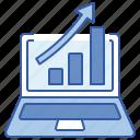 business, charts, data, profit icon