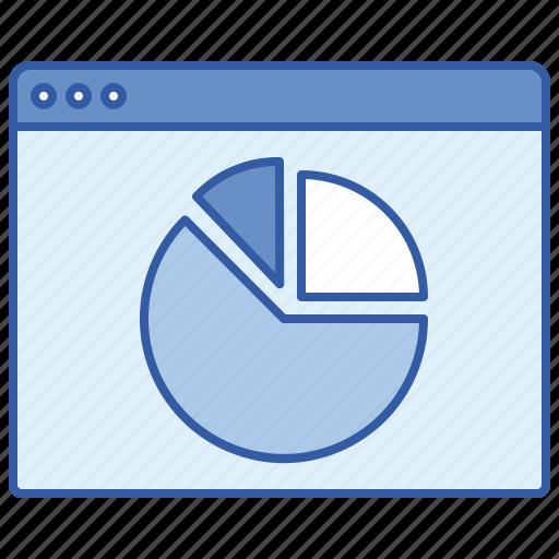 data, online, pie, report icon