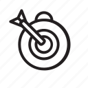 aim, bulls eye, business, dart, goal, target icon