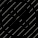 cancel, close, delete, no, remove, stop, x cross icon icon