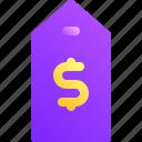 business, dollar, marketing, money, tag