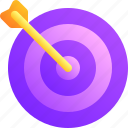 arrow, business, dart, goal, target icon