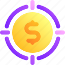 business, goal, money, target