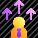 arrow, business, businessman, up, upgrade