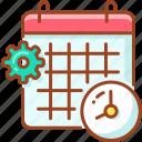 alarm, calendar, calender, date, month, schedule icon
