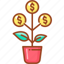 flower, money, moneytree, plant, tree icon
