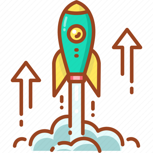 launch, launching, missile, rocket, space, spaceship icon