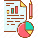analysis, business report, document, pie, report icon