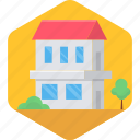 architecture, building, farm house, farmhouse, home, house, village icon