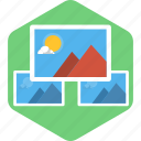 image, mountain, photo, photography, pic, rising sun, scenary icon