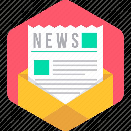Email, envelope, media, news, newsletter, newspaper, letter icon - Download on Iconfinder