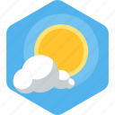 beach, cloud, nature, rays, rising, summer, sun icon
