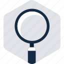 find, look, magnifier, search, view, vision, zoom icon