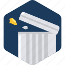 bin, cancel, delete, dustbin, recycle, remove, trash icon