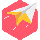 document, email, launch, paper, plane, post, send icon