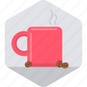 beverage, coffee, cup, drink, hot mug, mug, tea icon