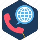 abroad, call, contact, customer, help, hotline, support icon