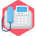 caller, communication, device, id, machine, telefax, telephone icon